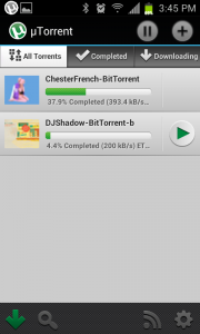 uTorrent on Android